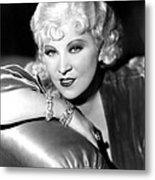 Mae West, Portrait Metal Print by Everett