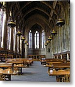 Magic Library Metal Print