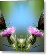 Magical Butterflies Metal Print