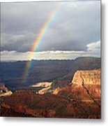 Magical Rainbow In The Grand Canyon Metal Print