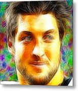 Magical Tim Tebow Face Metal Print