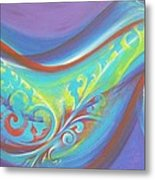 Magical Wave Water Metal Print by Reina Cottier