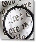 Magnifying News Metal Print