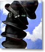 Magritte Hat Stand Metal Print