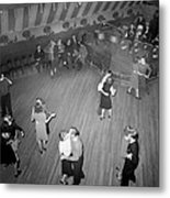 Mahers Dance Hall, Showing Orchestra Metal Print