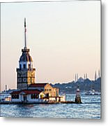 Maiden Tower In Istanbul Metal Print
