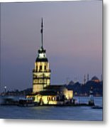Maiden's Tower  At Sunset Metal Print