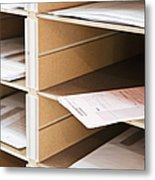 Mail In Office Mailboxes Metal Print by Jetta Productions, Inc