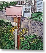 Mailbox Sketchbook Project Down My Street Metal Print by Irina Sztukowski