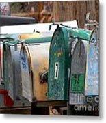 Mailboxes Metal Print