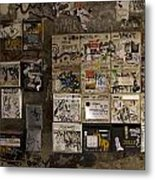 Mailboxes With Graffiti Metal Print by RicardMN Photography