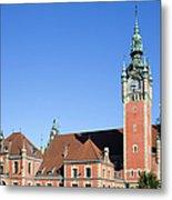 Main Railway Station In Gdansk Metal Print