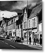 main road through the picturesque small town of Callander scotland uk Metal Print by Joe Fox