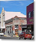 Main Street In Silver City Nm Metal Print