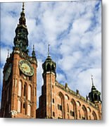 Main Town Hall In Gdansk Metal Print