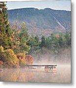 maine 26 Baxter State Park Mt. Khatadin Morning Mist on Daicey Pond Metal Print