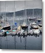 Maine Harbor Metal Print