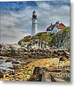 Maine Head Light Metal Print