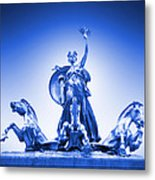 Maine Monument  In Blue Metal Print