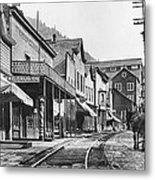 Mainstreet Burke Ghost Town - Idaho Metal Print
