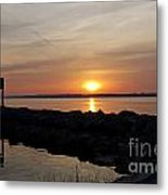 Majestic Sunset At The Point Metal Print