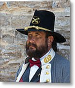 Major General Lunsford L.lomax Portrayed By Dan L. Carr 150th Anniversary Of The American Civil War  Metal Print