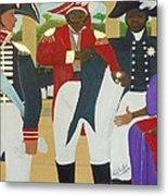 Making Of The Haitian Flag Metal Print by Nicole Jean-Louis