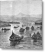 Malaya: Perak River, 1876 Metal Print
