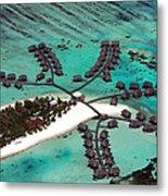 Maldives Aerial Metal Print by Jane Rix
