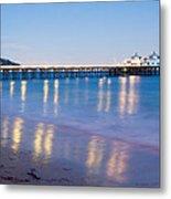 Malibu Pier Reflections Metal Print