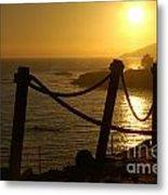 Malibu Sunset Metal Print by Micah May