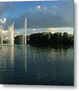 Malmoe Fountains Metal Print