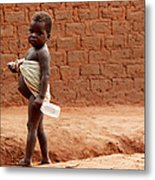 Malnourished Child Metal Print