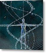 Man And Cyberspace Metal Print by Carol and Mike Werner