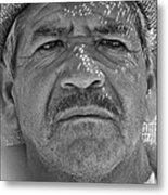 Man And Hat Metal Print