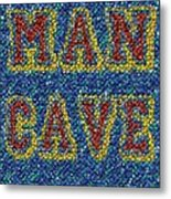 Man Cave Bottle Cap Mosaic Metal Print by Paul Van Scott