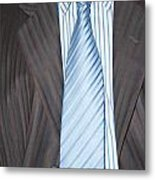 Man Wearing A Suit And Tie Metal Print