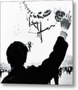 Man With A Kite Metal Print by Linde Townsend