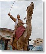 Man With His Camel Metal Print