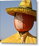 Man With The Yellow Hat Metal Print