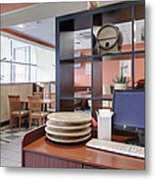 Manager Station At A Cafe Metal Print