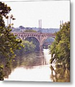 Manayunk Bridge Along The Schuylkill River Metal Print