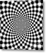 Mandala Figure Number 9 With Black And White Circles Metal Print