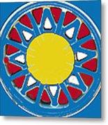 Mandala In Primary Colors Metal Print