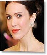 Mandy Moore Wearing Chopard Earrings Metal Print by Everett