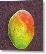 Mango On Plum Metal Print