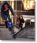 Manhattan Bmx Metal Print