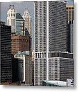 Manhattan Buildings Metal Print