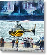 Manhattan Heliport Metal Print