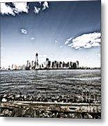 Manhattan Metal Print by Leslie Leda